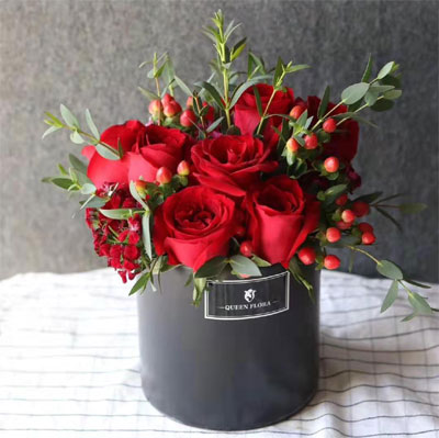 bucket of roses
